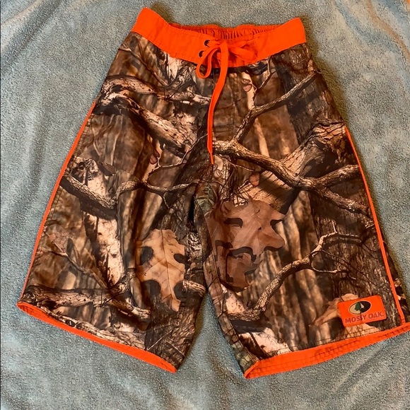 e6f4125655 Mossy Oak Swim   Camouflage Camo Trunks Size Small   Poshmark